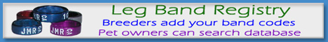 Leg Band Registry - For Breeders & Pet Owners
